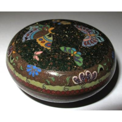 Round Box In Cloisonne Enamels.