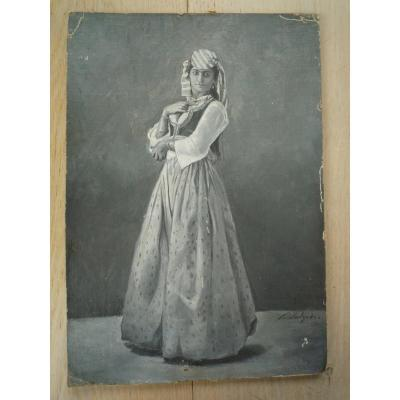 Paul Elie Salzedo (1842-1909) - Danseuse égyptienne