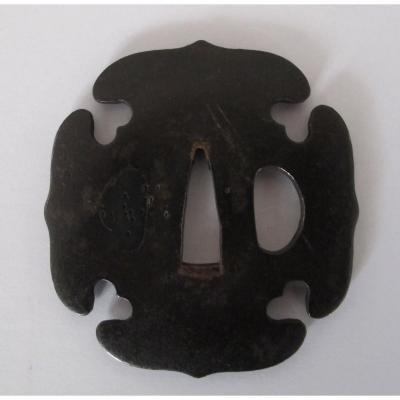Tsuba (garde De Sabre) De Tachi De Forme Aoigata
