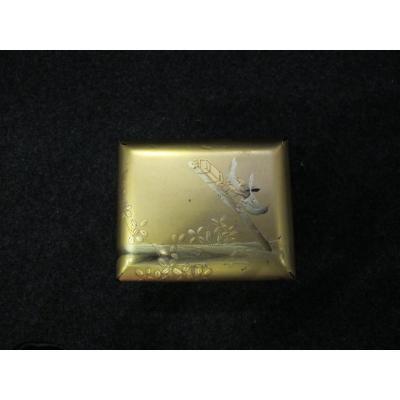 Japanese Lacquer Box With Bird Decor