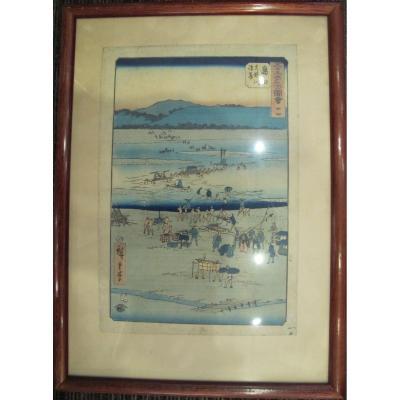 Japanese Landscape Woodblock  Print By Utagawa Hiroshige