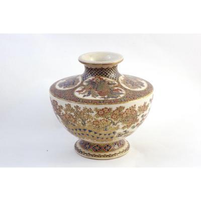 Satsuma Vase, Japan, Edo Period, First Half Of The 19th