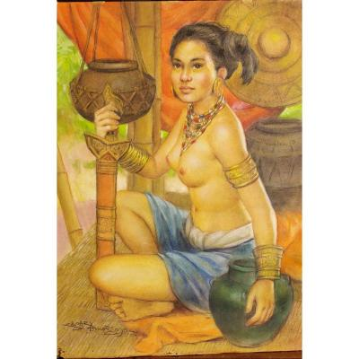Portrait Of Young Filipina