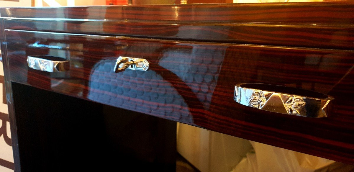 Bureau Art Deco En ébène De Macassar -photo-3