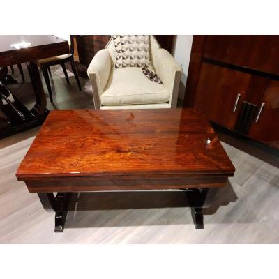 Table Basse Art Deco En Palissandre De Rio