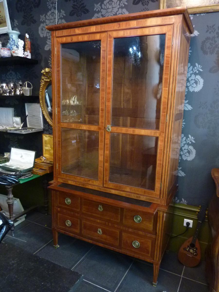 Dresser Commode In Maquetterie Louis XVI