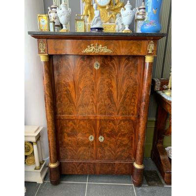 19th Century Mahogany Empire Secretary
