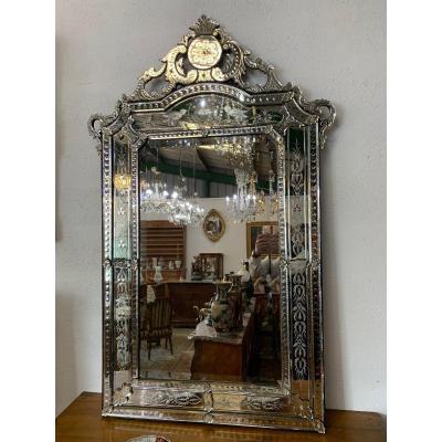 Grand Miroir Venitien Glace De Venise
