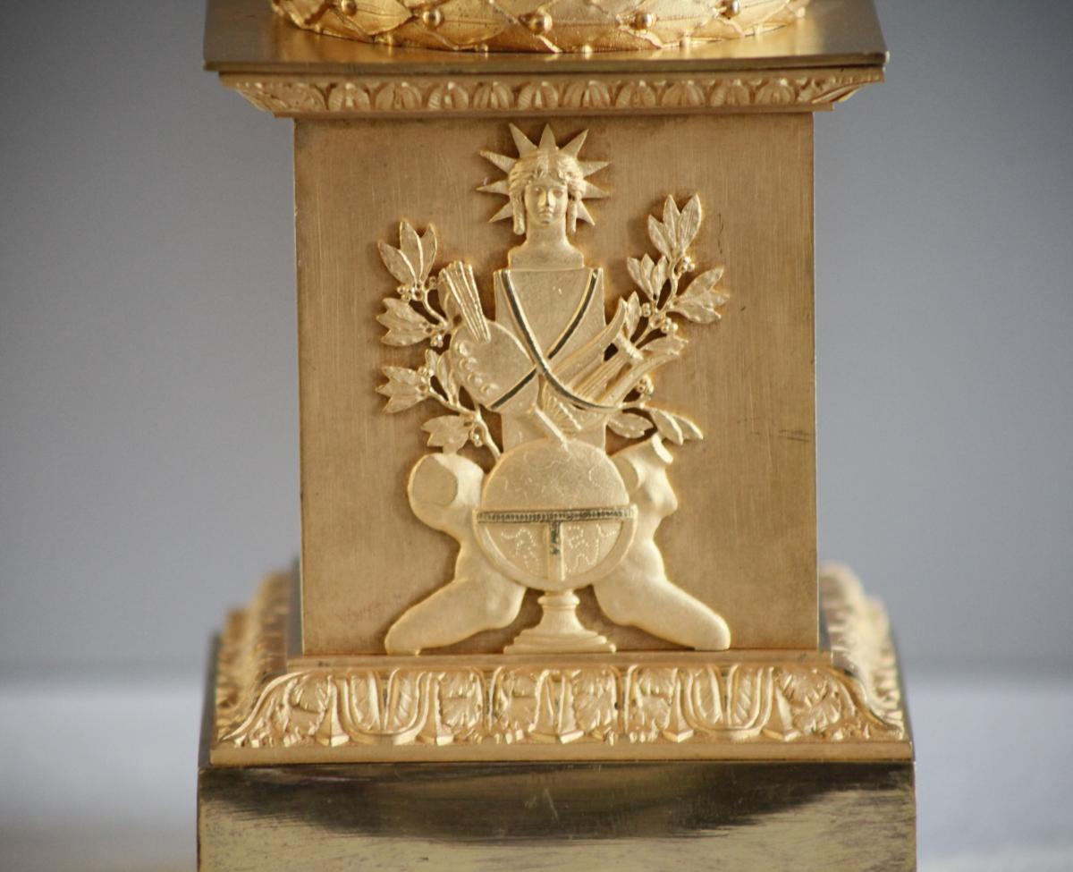 Paire de Cassolettes / Bougeoirs en bronze - Epoque Empire