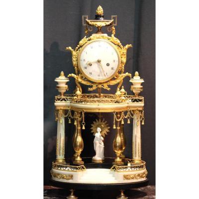 Pendule Au Temple d'Amour - Epoque Louis XVI - Gaston Jolly