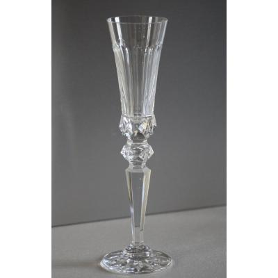 12 Flutes In Crystal Saint Louis - Excellence H 27 Cm