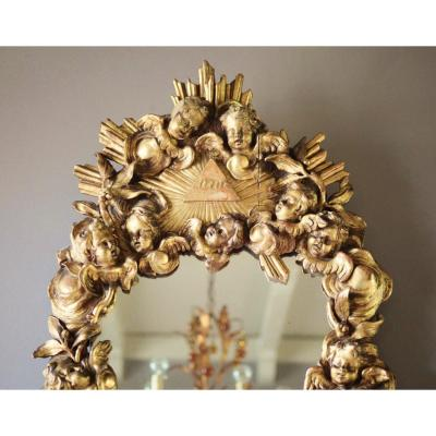 Mirror With Angels 18th Century