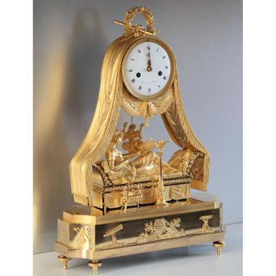 Pendulum Empire Period 51 Cm - Mme Récamier