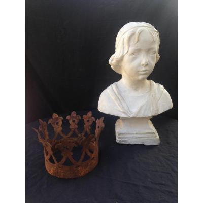 Buste d'Atelier En Plâtre