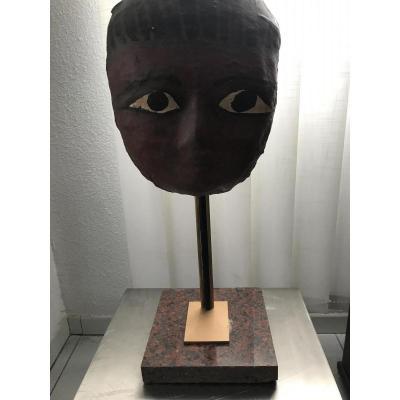 Masque de sarcophage égyptien