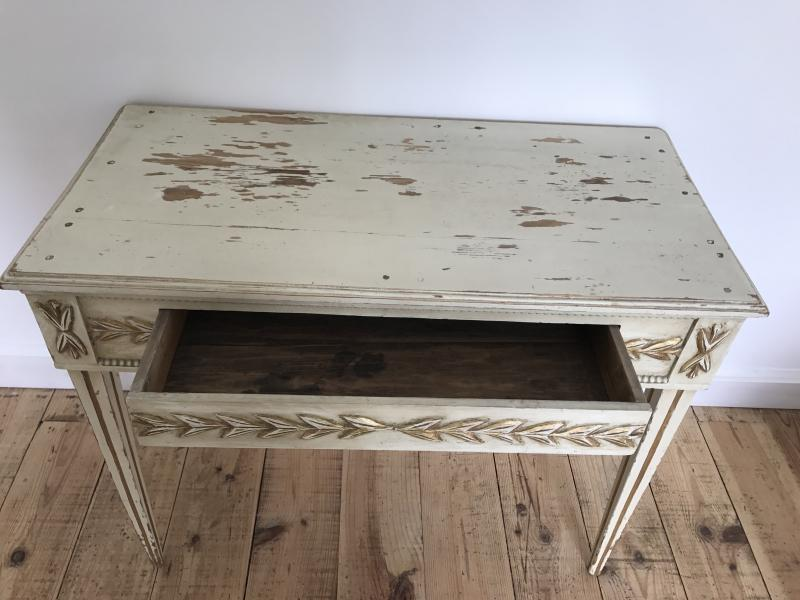 Small Painted Wood Table (18th)-photo-2