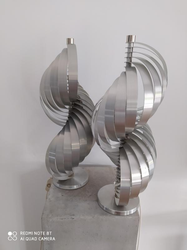 Pair Of Metal Lamps By Mathieu-photo-2
