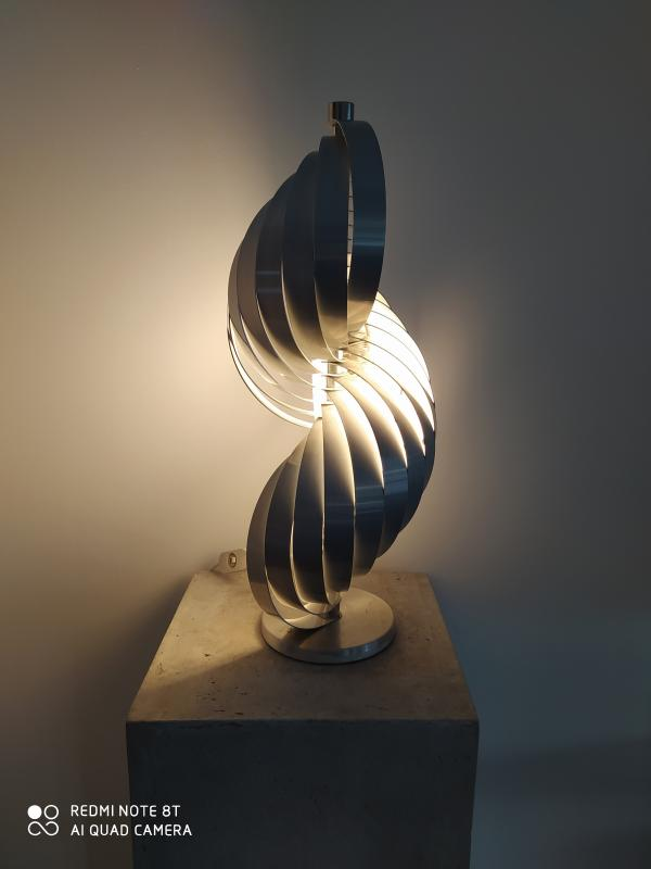 Pair Of Metal Lamps By Mathieu-photo-3