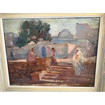 Oil On Panel M. Rogerol