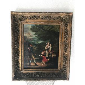 Oil On Canvas Late XVIIIth Beginning XIXth Century.