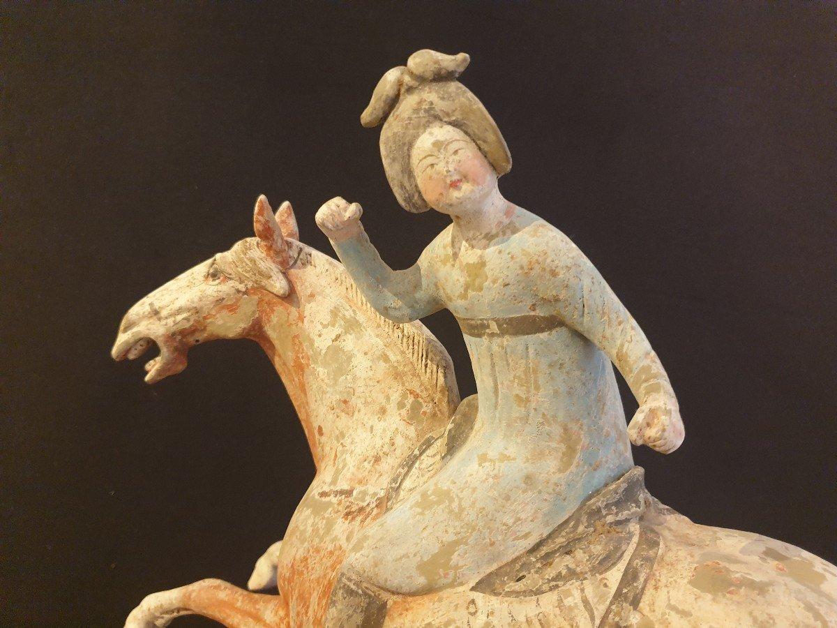 Chine - Joueuse De Polo - époque Tang-photo-4