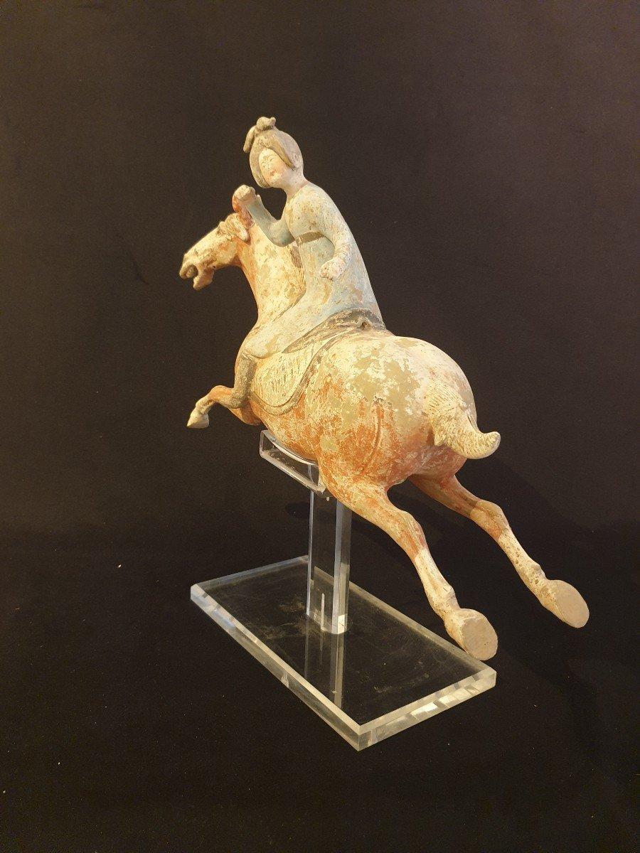 Chine - Joueuse De Polo - époque Tang-photo-5