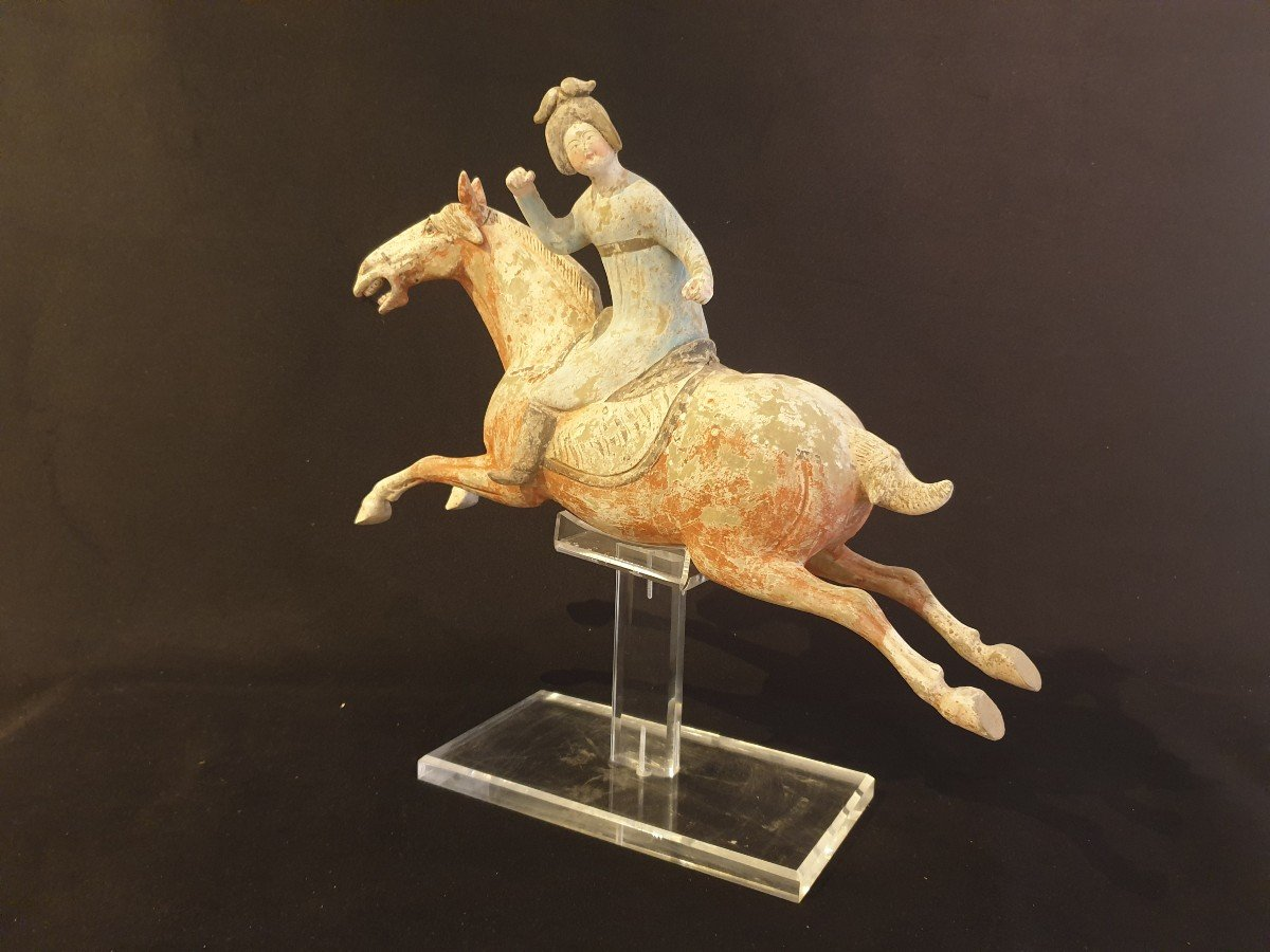 Chine - Joueuse De Polo - époque Tang-photo-6