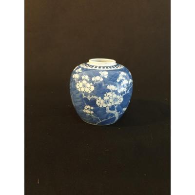 Chine - Pôt Bleu Et Blanc à Décor De Prunier - XXème - 12 Cm