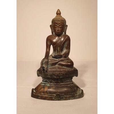 Chine - Bouddha En Bronze - XXème
