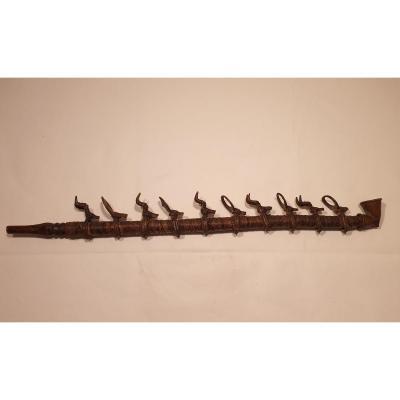 Bénin - Pipe à Déco De Cervidés En Bronze