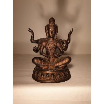 Chine - Divinité En Bronze