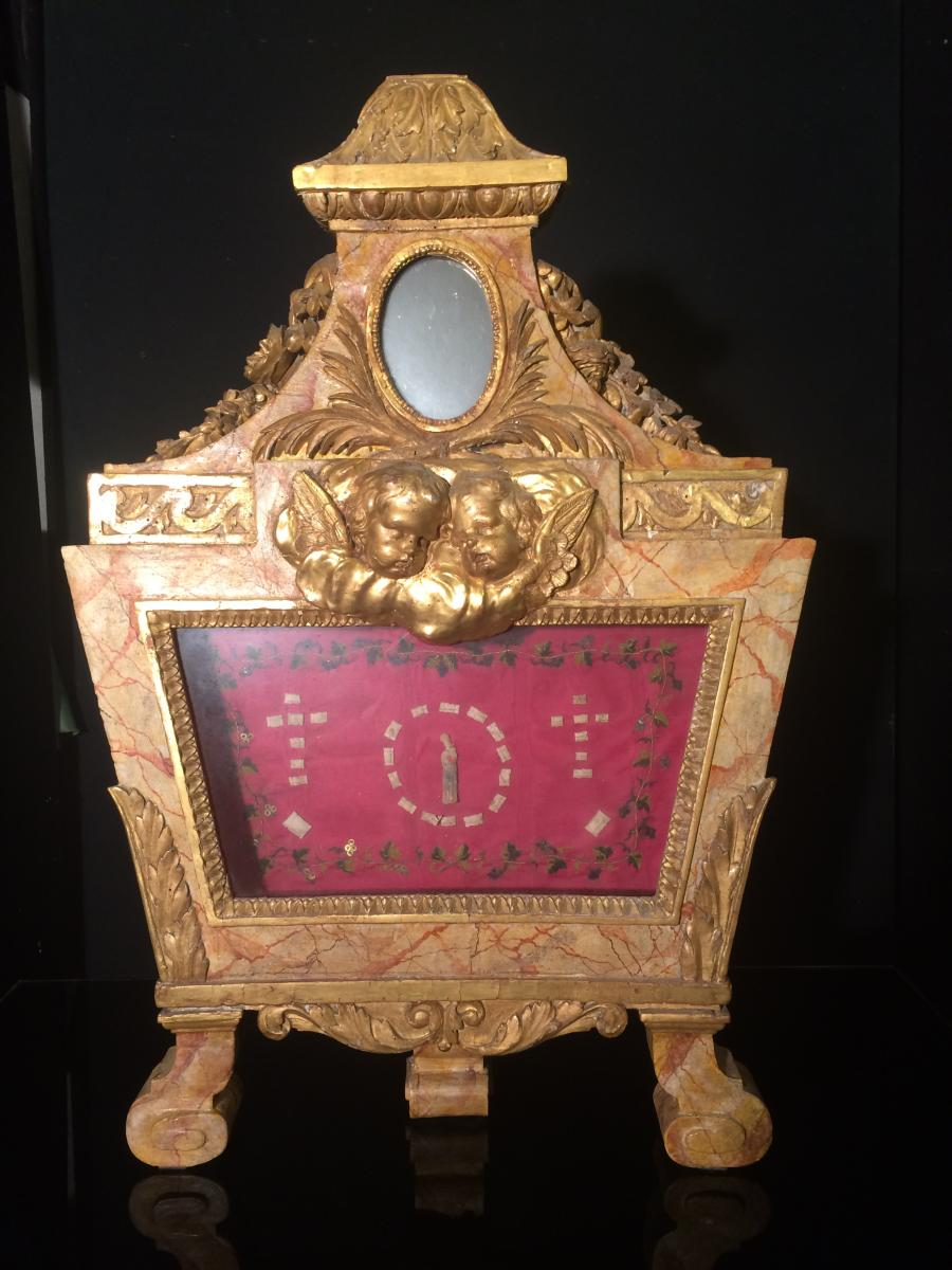 Reliquary In Golden Wood