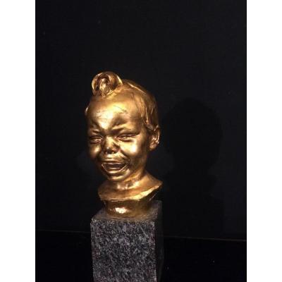 Max Blondat (1872-1925) «gros Chagrin»bronze