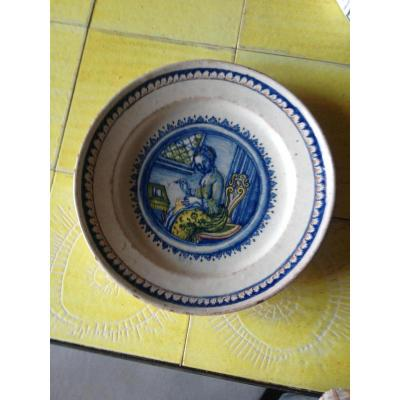 Leroy Marseille? Rare Plate In Earthenware Fire