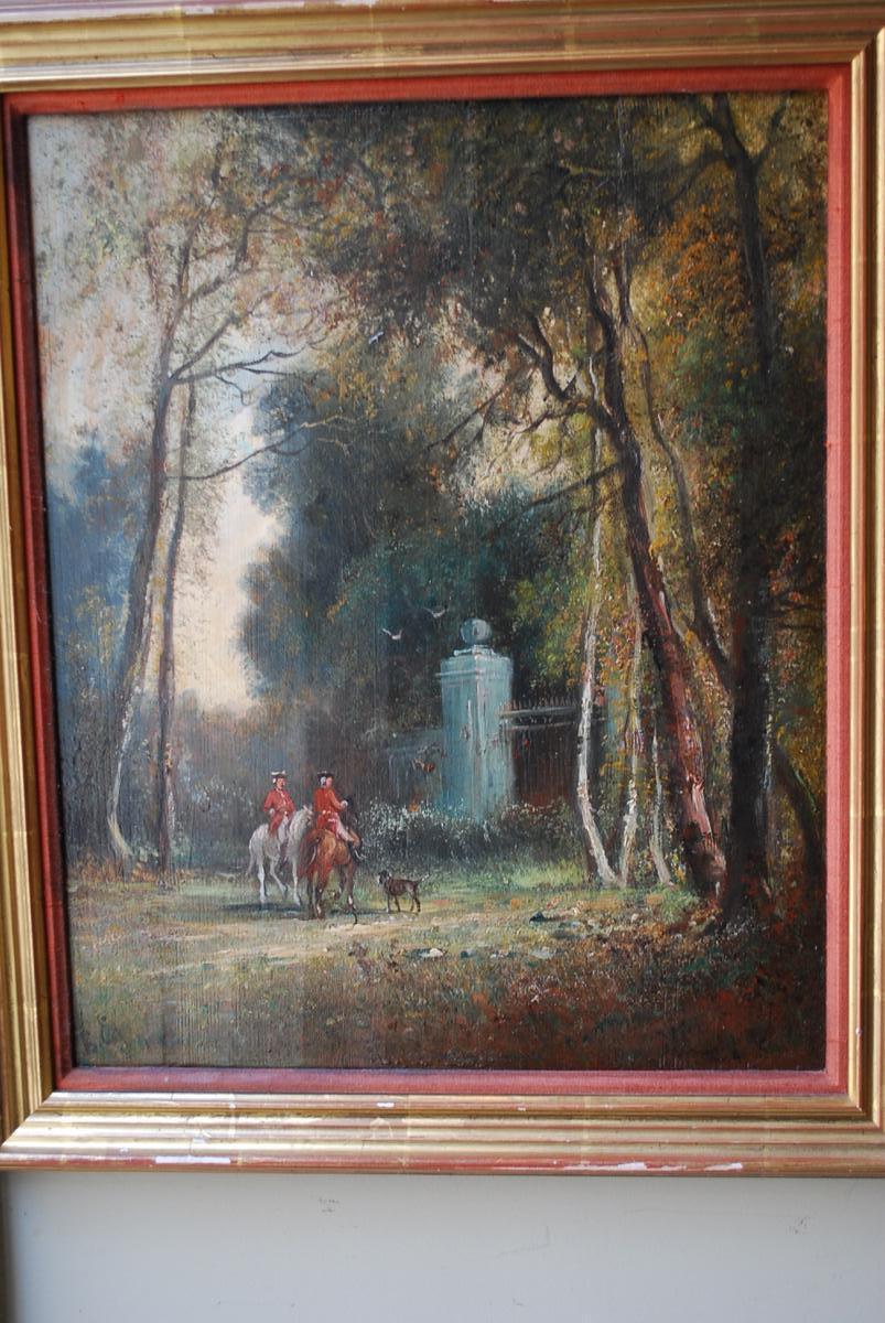 Le Départ De Chasse à Courre , Panneau XIX-photo-2