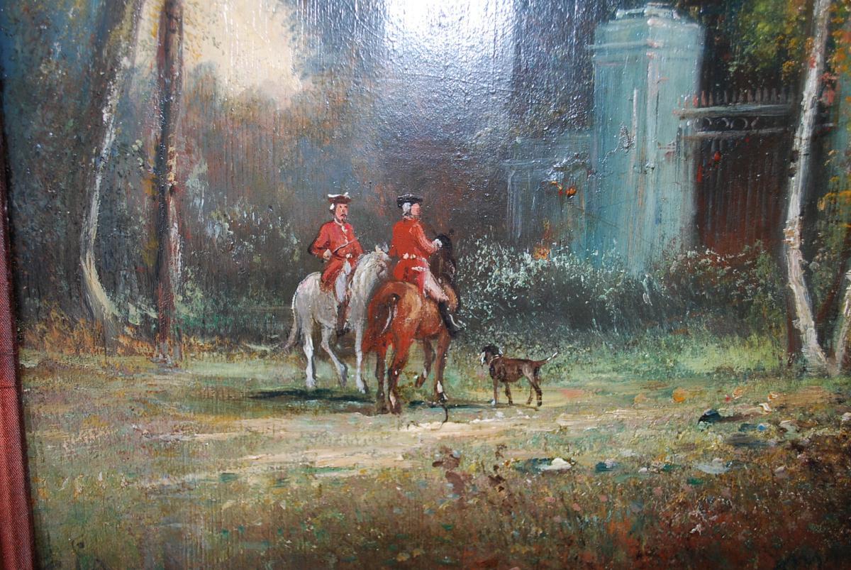 Le Départ De Chasse à Courre , Panneau XIX-photo-3