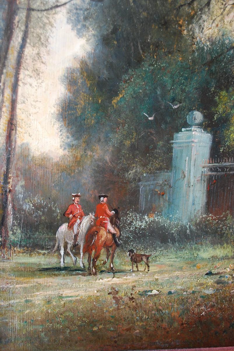 Le Départ De Chasse à Courre , Panneau XIX-photo-1
