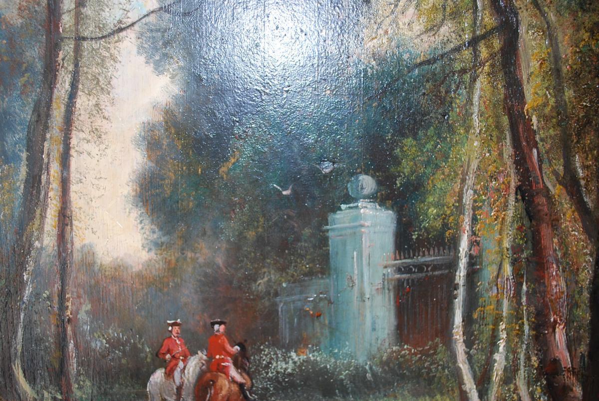 Le Départ De Chasse à Courre , Panneau XIX-photo-4