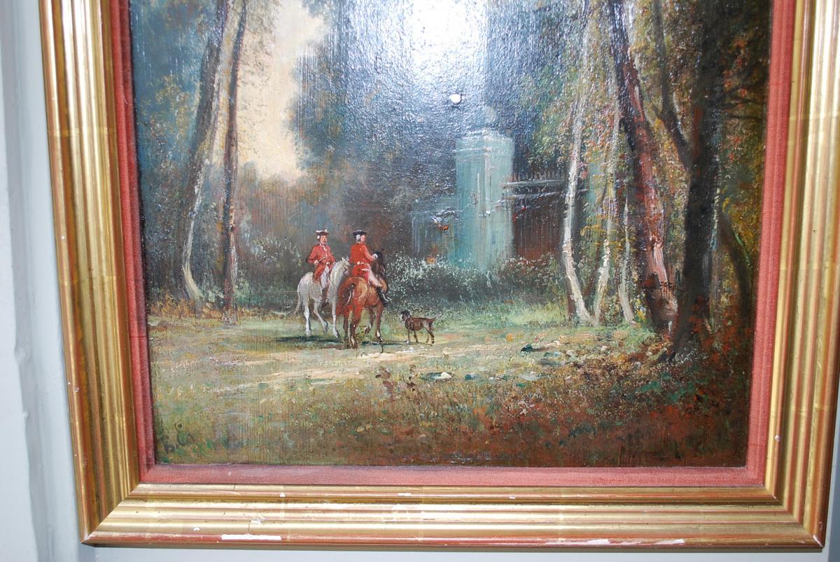 Le Départ De Chasse à Courre , Panneau XIX-photo-7