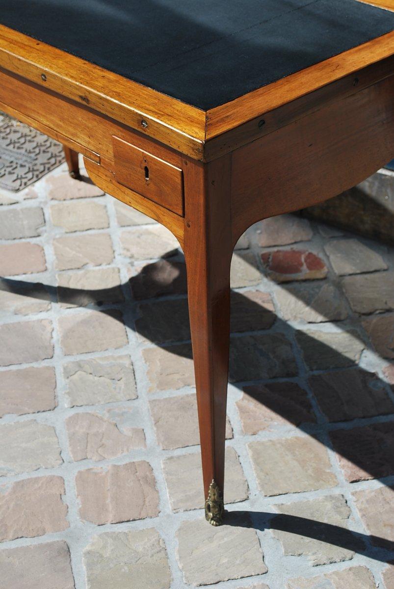 Table à Jeux Tric Trac En Noyer époque Louis XV .estampille De Ancelet-photo-3