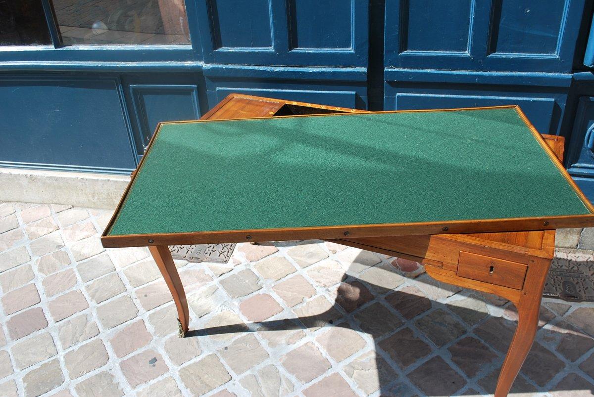 Table à Jeux Tric Trac En Noyer époque Louis XV .estampille De Ancelet-photo-5