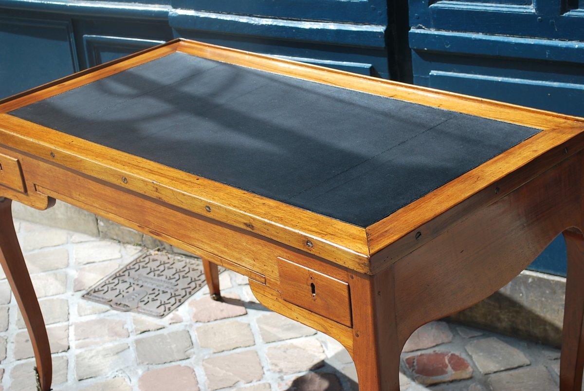 Table à Jeux Tric Trac En Noyer époque Louis XV .estampille De Ancelet-photo-6