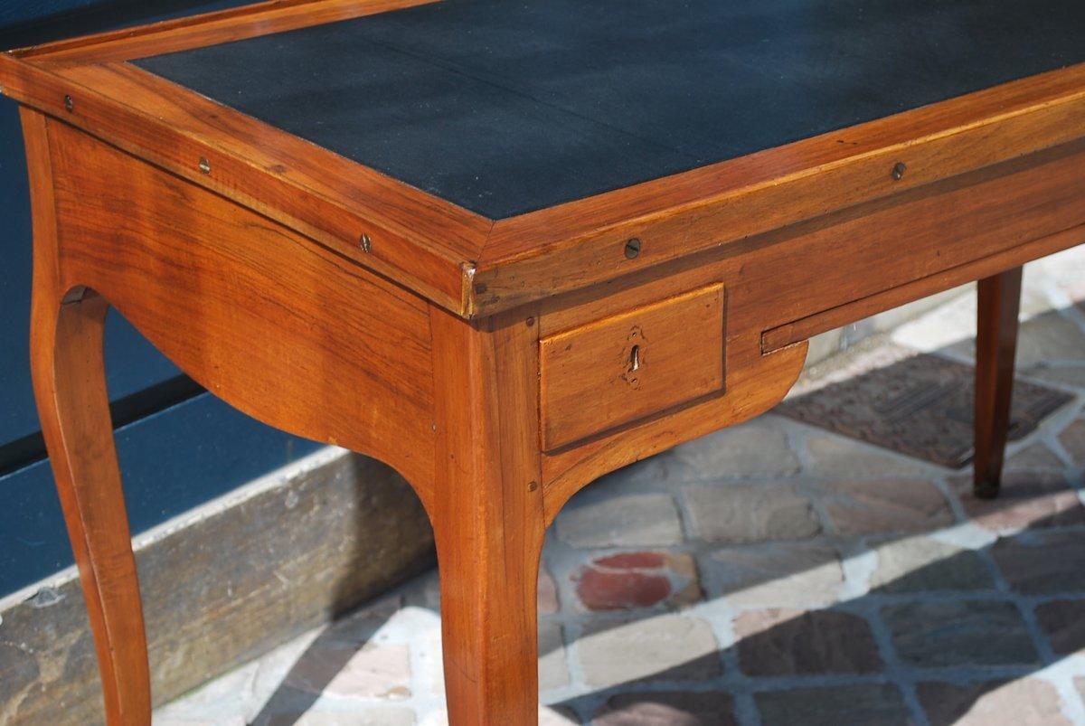 Table à Jeux Tric Trac En Noyer époque Louis XV .estampille De Ancelet-photo-7