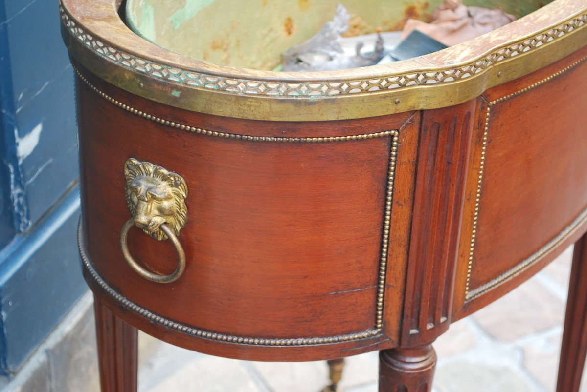 Jardinière En Acajou De Style Louis XVI Estampillée De Mailfert-photo-3