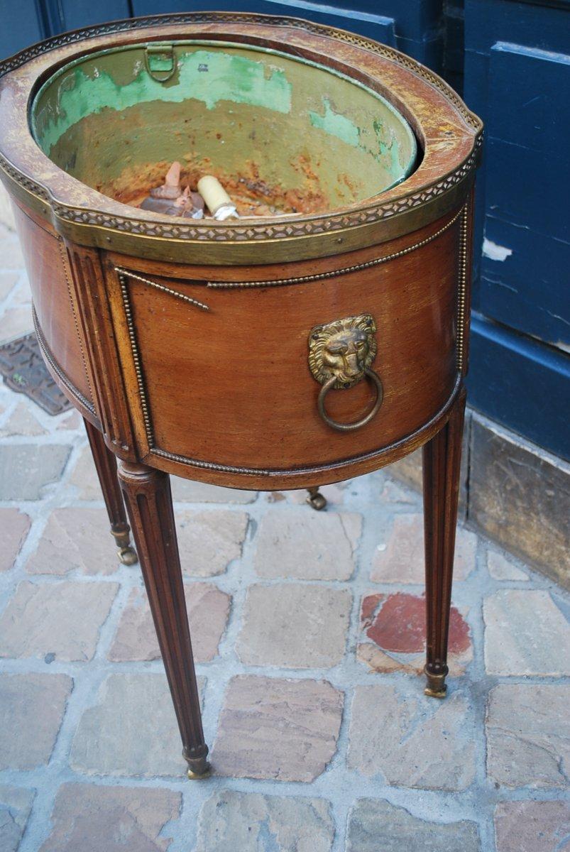 Jardinière En Acajou De Style Louis XVI Estampillée De Mailfert-photo-4