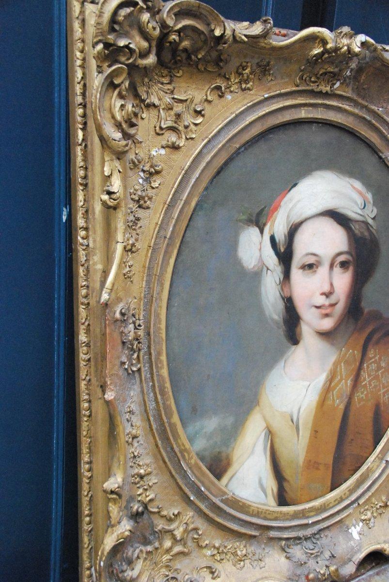 Portrait D Une Jeune Femme Au Turban  XIX d après Murillo-photo-3