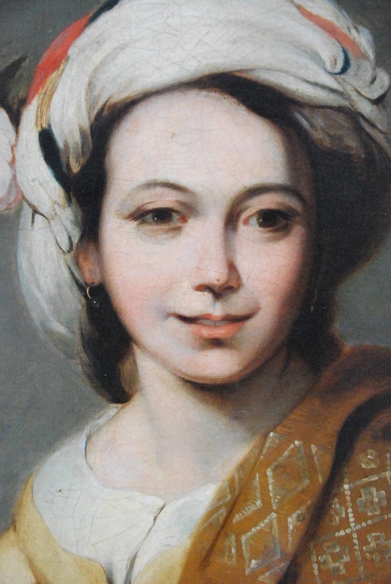 Portrait D Une Jeune Femme Au Turban  XIX d après Murillo-photo-6