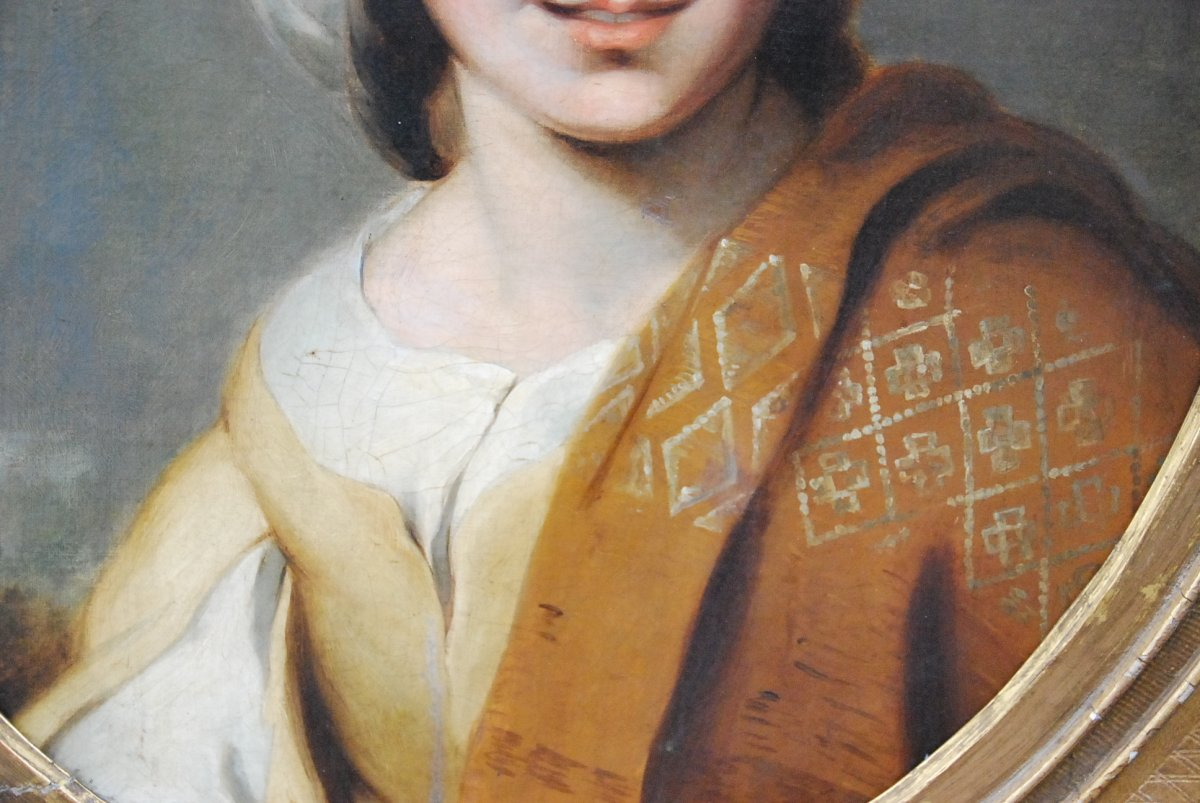 Portrait D Une Jeune Femme Au Turban  XIX d après Murillo-photo-8
