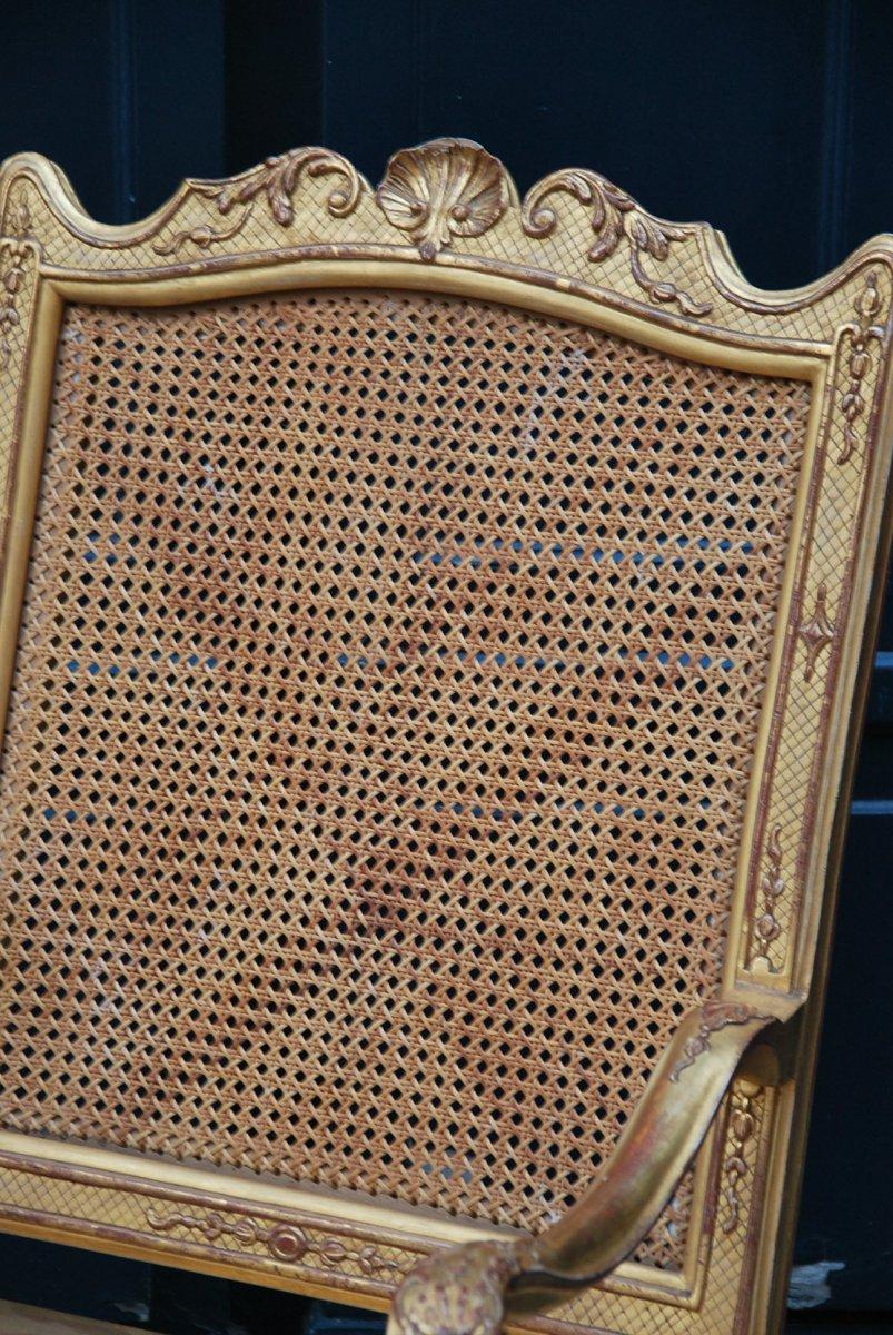 Important Et Large Fauteuil D Apparat En Bois Doré D époque Regence Début XVIII-photo-3