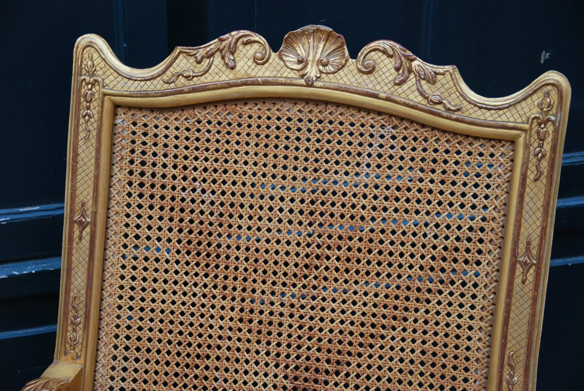 Important Et Large Fauteuil D Apparat En Bois Doré D époque Regence Début XVIII-photo-4